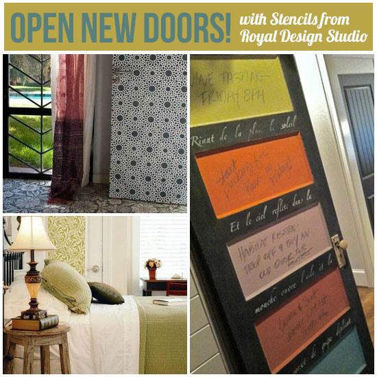 stenciling and pattern ideas for doors, doors, painted furniture, Stenciling and Pattern Ideas for Doors