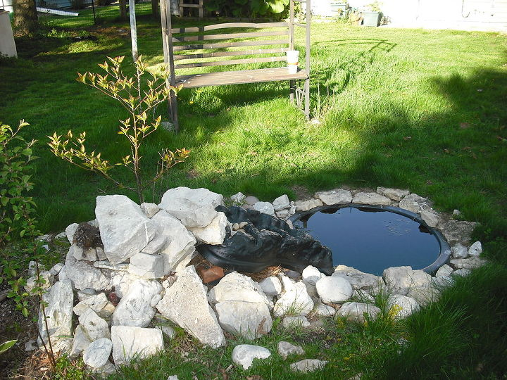 Garden and pond from old home, digging all up to take to new