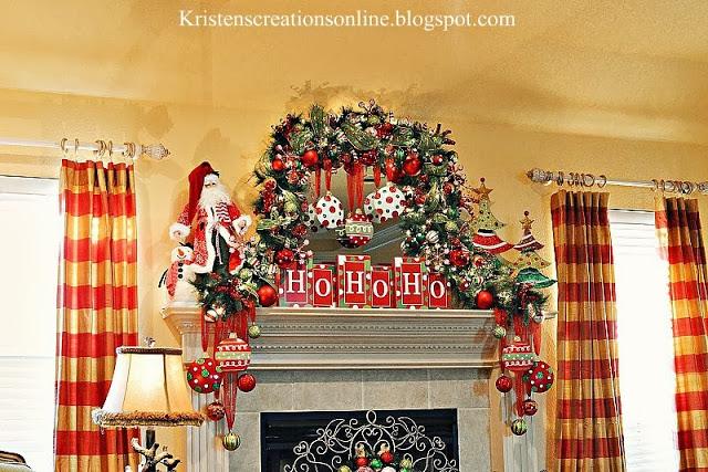 whimsical christmas mantel 2013, christmas decorations, fireplaces mantels, seasonal holiday decor, wreaths