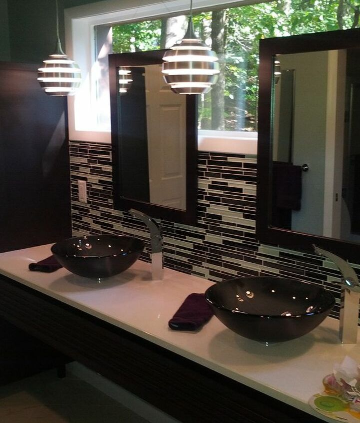 After - mirrors float in front of the new enlarged window