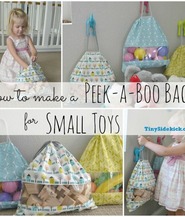 storage solution for small toys peek a boo bag tutorial, crafts, storage ideas