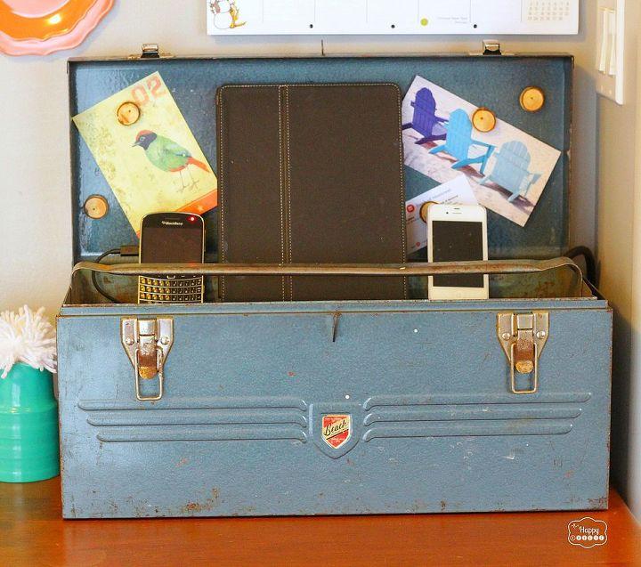 Vintage Tool Box Charging Station