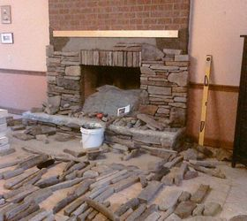 Dry Stack Stone Fireplace Ideas Part - 39: As The Fireplace Surround Is Re Faced, Concrete Masonry, Fireplaces  Mantels, Home Decor
