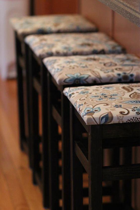 my diy bar stools, diy, painted furniture, reupholster