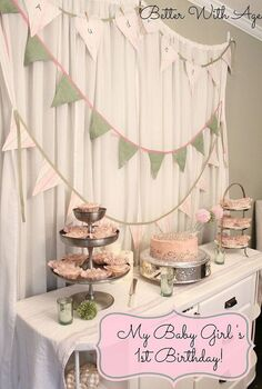 my baby girl s 1st birthday party, home decor