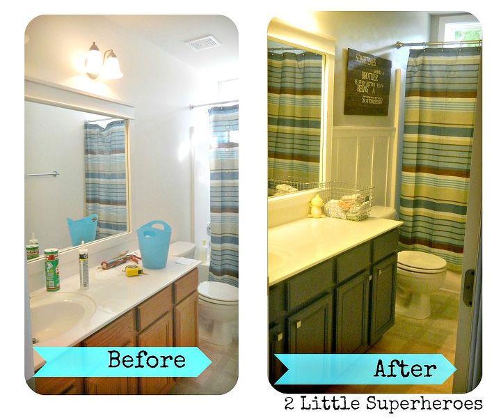 187 boys bathroom makeover, bathroom ideas, home decor, woodworking  projects, Boys Bathroom