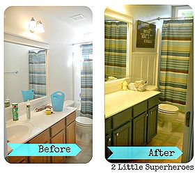 187 Boys Bathroom Makeover, Bathroom Ideas, Home Decor, Woodworking  Projects, Boys Bathroom