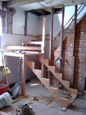 The skeleton of new stairs