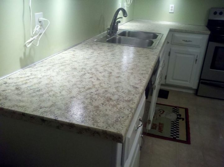 Faux Granite Painted Counters With Craft Paint Hometalk