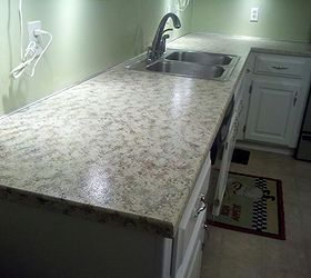 Faux Granite Painted Counters With Craft Paint, Countertops, Diy, How To,  ...