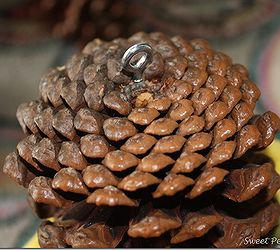 Pine Cone Door Decoration, Crafts, Seasonal Holiday Decor, A Screw Eye Was  Inserted