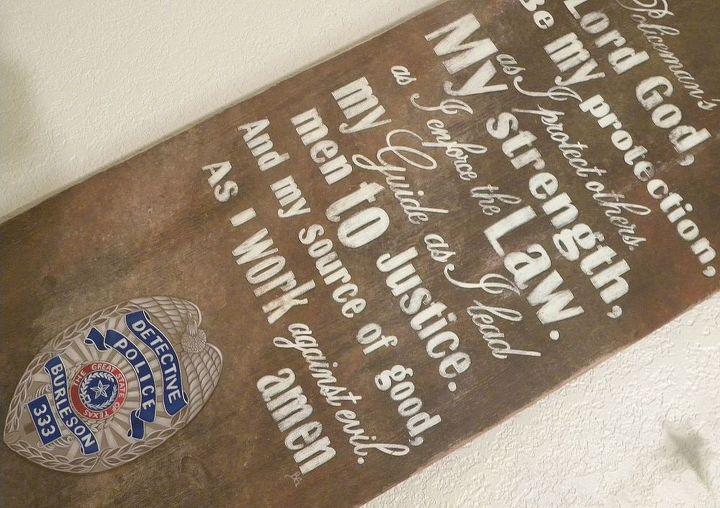 Policeman's Prayer Sign -2 By GranArt