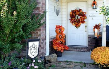fall front porch, porches, seasonal holiday decor