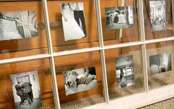 Using an Old Window to Display Photos