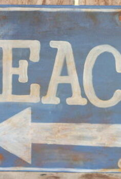 diy rustic beach sign knock off from ballard designs, crafts, Come on over and learn how to make this beach sign for yourself