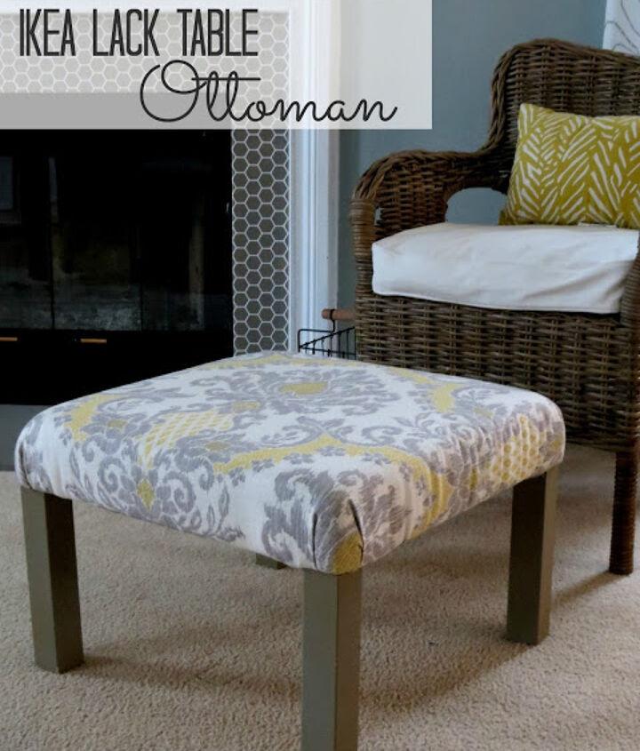 ikea hack ottoman tutorial, painted furniture