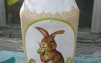 Decoupage ideas: bunny jar