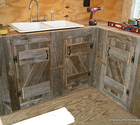 Ordinaire Kitchen Cabinets Made From Reclaimed Salvaged Barnwood, Diy, Home  Improvement, Kitchen Backsplash,