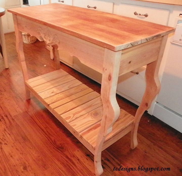 a sofa hall table made from re cycled wood, painted furniture, pallet,  woodworking