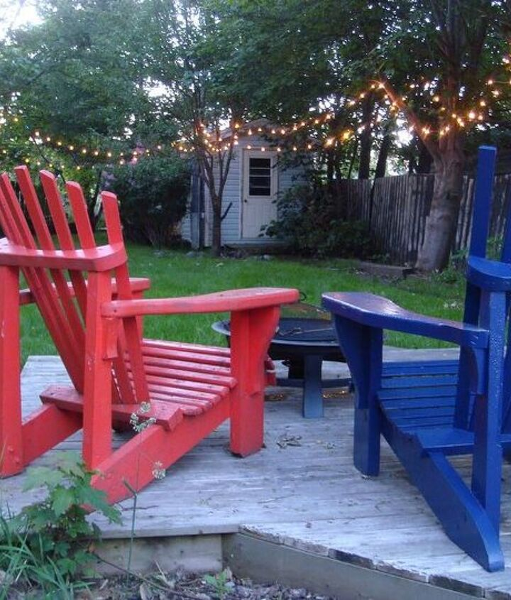 Nothing is more relaxing than lounging in the backyard on cool summer evenings with a glass of wine and a romantic glow!