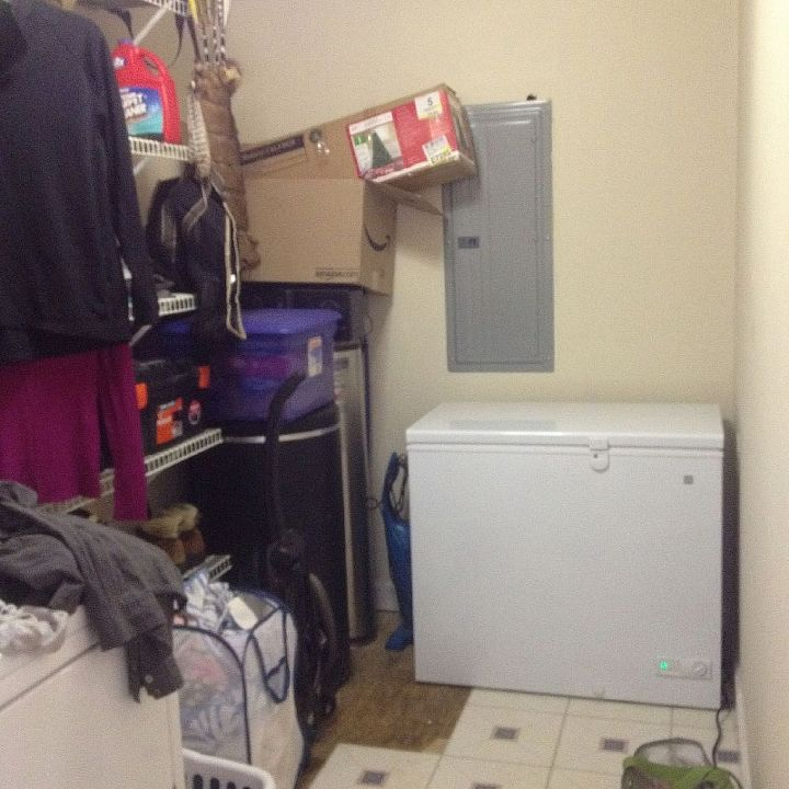 q how to organize decorate a very long and narrow laundry room, home decor, laundry rooms, organizing, The back wall