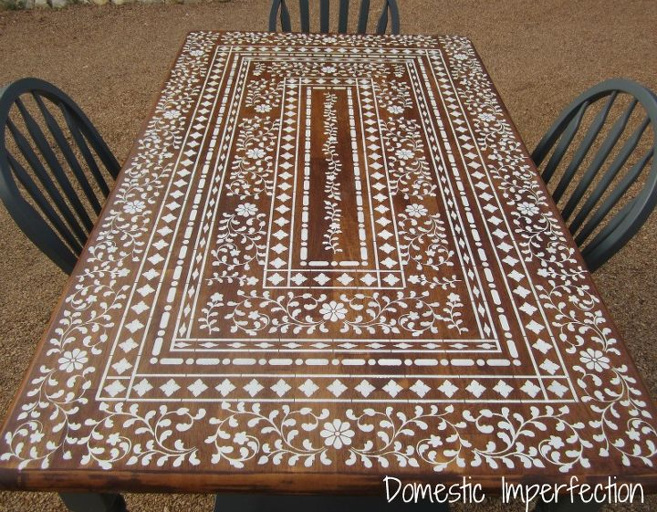 Indian Inlay table after