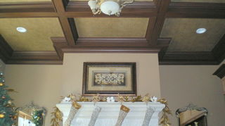 is paintable wallpaper a good solution to dress up a ceiling, paint colors, painting, You can see the whole project at