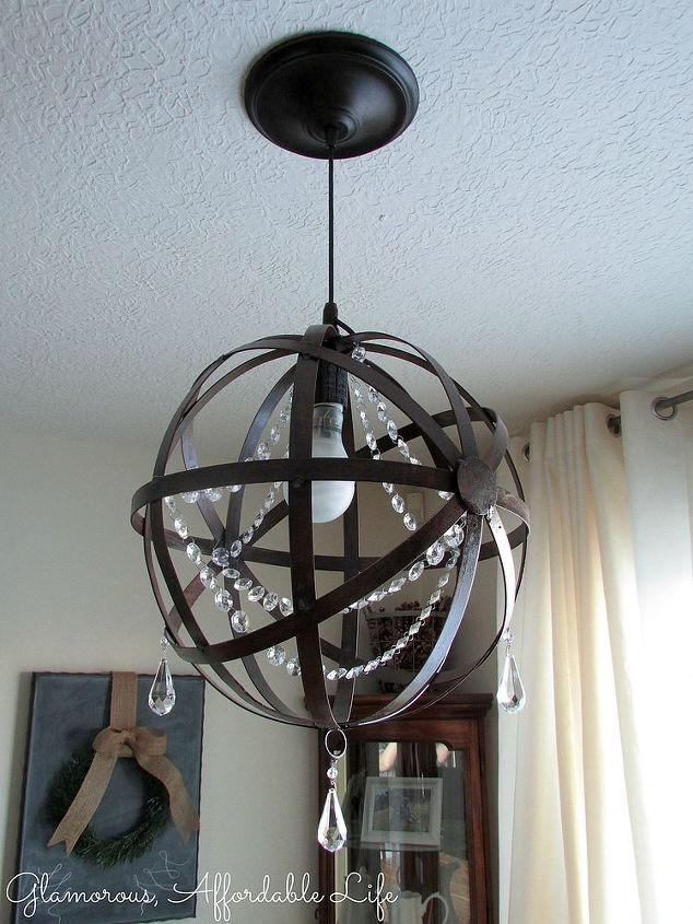 Diy iron orb crystal chandelier hometalk diy iron orb crystal chandelier diy lighting mozeypictures