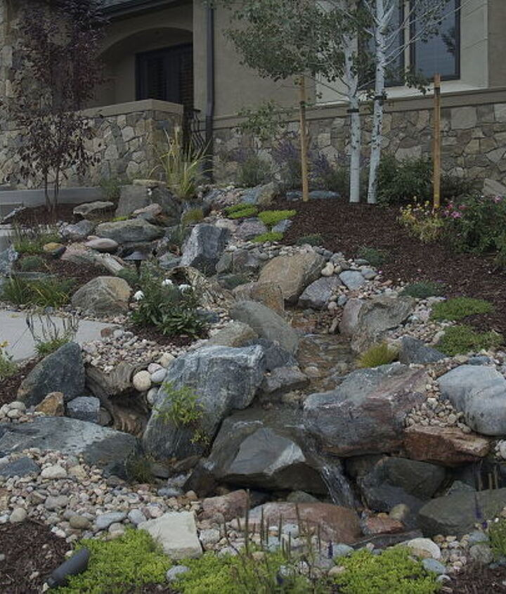 This pondless split and went down either side of the front walk.
