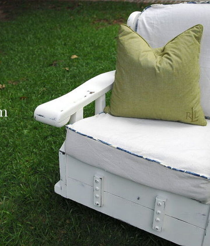 Breathe new life into an old piece! 70's vintage rocker turned cottage chic!