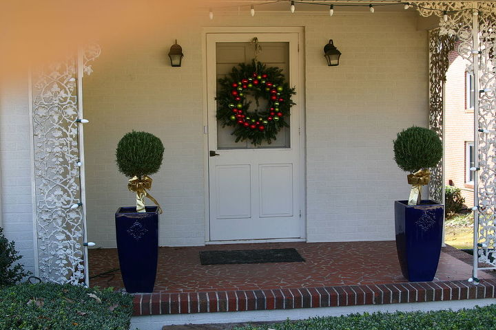 Rosemary topiaries and wreath