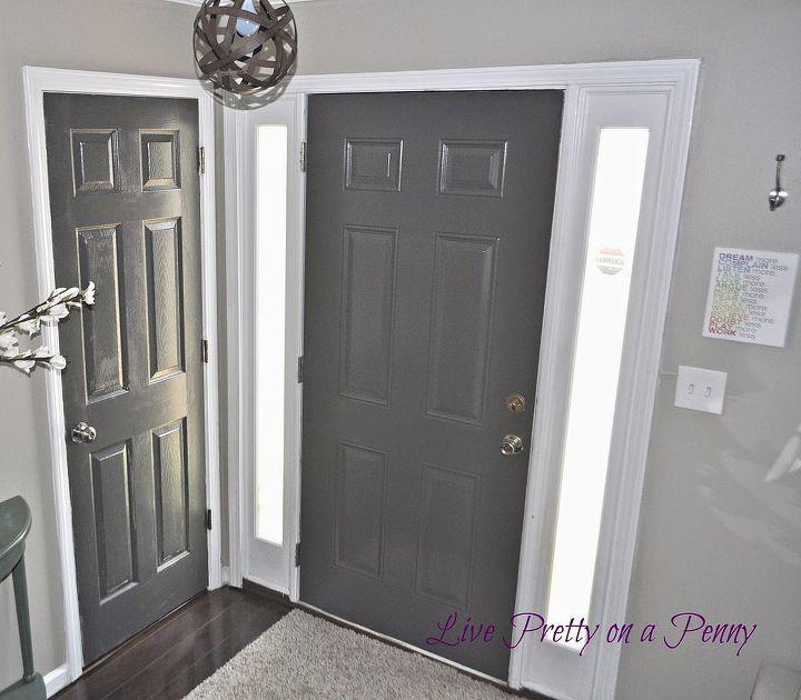 Dark Gray Painted Door Hometalk
