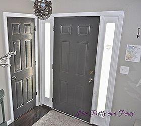 dark gray painted door doors foyer home decor painting & Dark Gray Painted Door | Hometalk pezcame.com