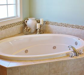 How To Add A Glass Stone Tile Border, Bathroom Ideas, Tiling, How To Part 52