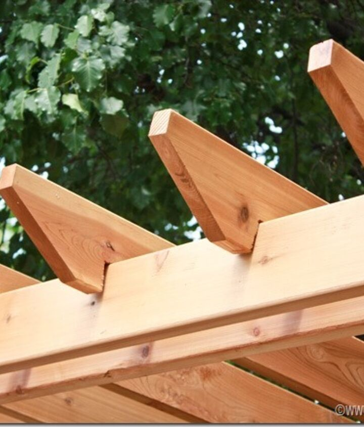 Add crossbeams to complete your pergola!