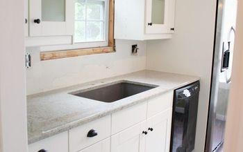 newly installed ikea kitchen, countertops, kitchen cabinets, kitchen design, Sink side of kitchen