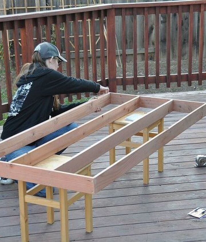 When you build anything mark all your cuts before you cut anything. You can erase and remark but you can't reattach wood you already cut off. We would have been back at the lumber yard without this step.