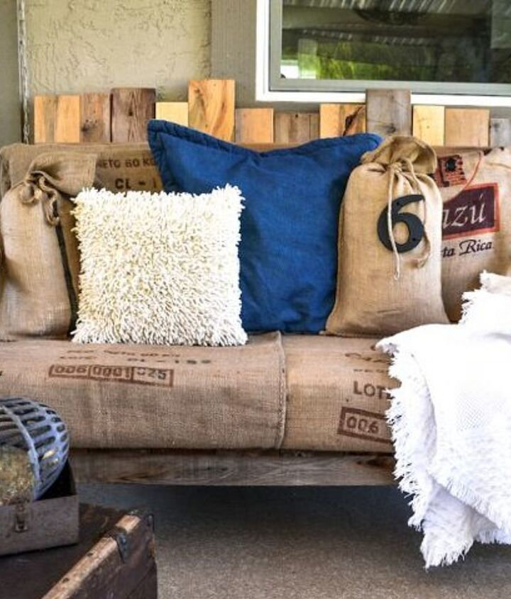 I like to sit on the pallet sofa, that faces out towards the view. http://www.funkyjunkinteriors.net/2013/05/a-cool-pallet-wood-chair-anyone-can-make-part-1.html