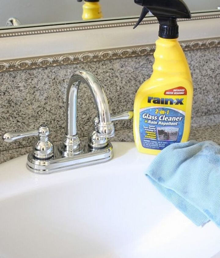 how to clean chrome fixtures and keep them clean, bathroom ideas, cleaning tips