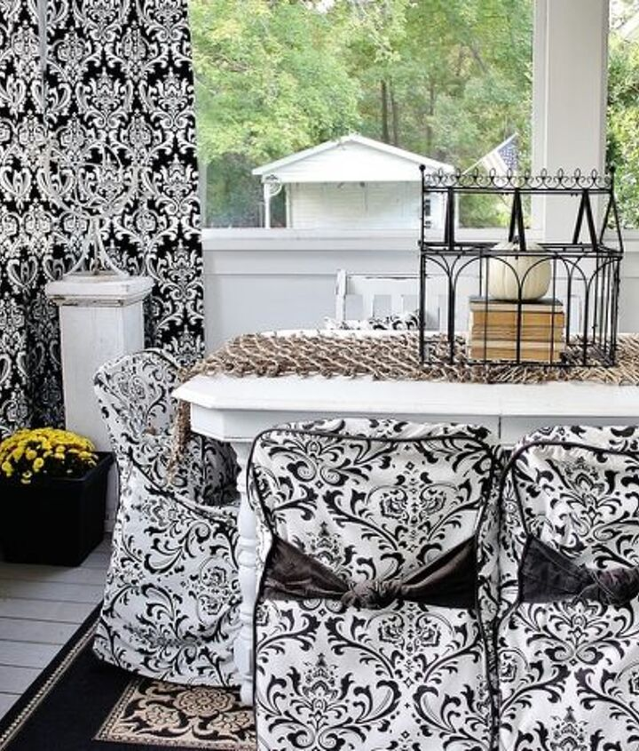 fun fall back porch, flowers, home decor