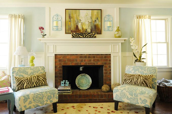 q what color should i paint our fireplace surround, fireplaces mantels, home decor, painting, I love this creamy off white color