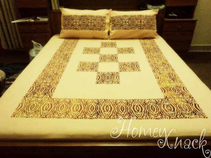 its a screen printed bed sheet, bedroom ideas, crafts, My gift to my Mom