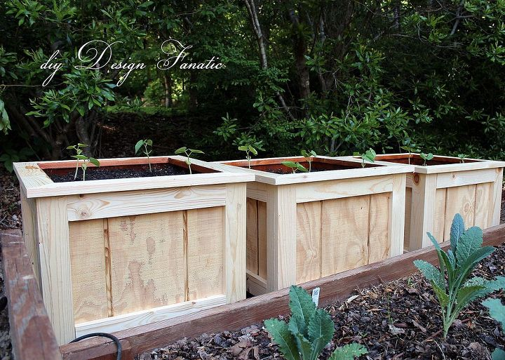wood planter boxes, diy, gardening, woodworking projects