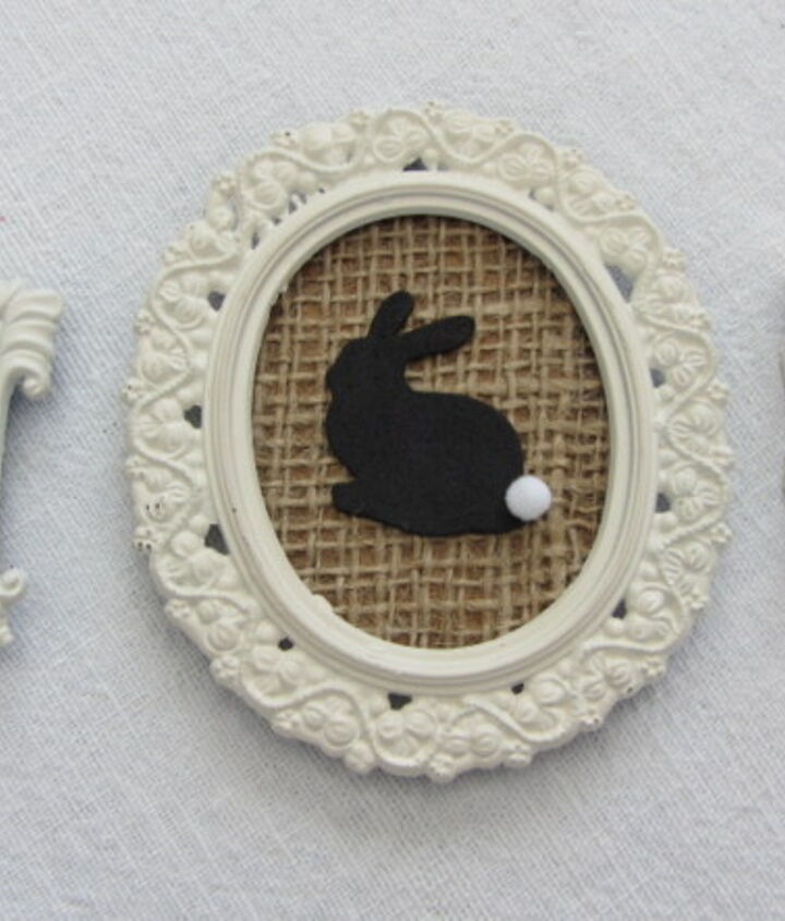 mini framed bunny silhouettes, crafts, easter decorations, seasonal holiday decor