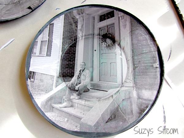 diy photo plate wall art, crafts, decoupage, home decor