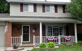 Red, White & Blue Front Porch Updates