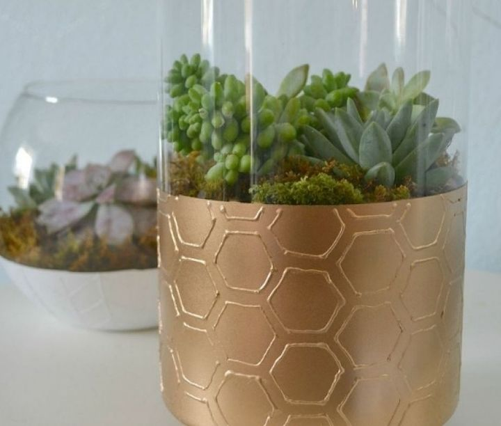 diy textured glass vases west elm inspired, crafts, painting