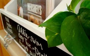 a chalkboard pallet storage shelf, home decor, kitchen design, shelving ideas, storage ideas, Perfect for my plant cuttings to be displayed