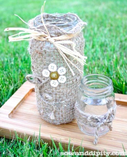 Pretty lil flower, olive jar and mustard jar