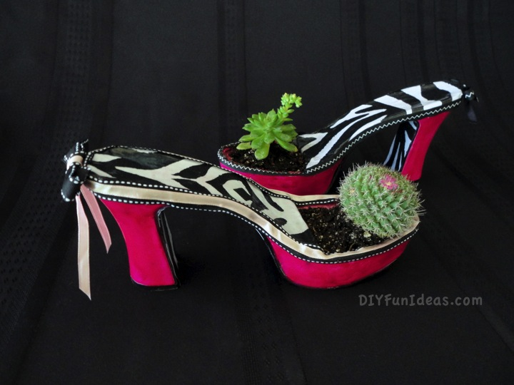 fabulous diy high heel planters, flowers, gardening, repurposing upcycling, succulents